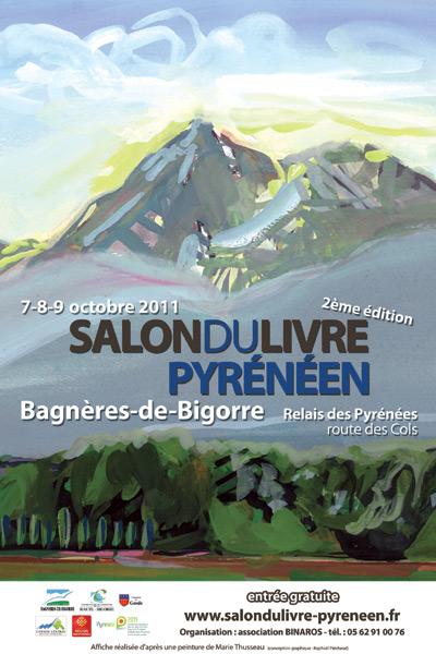 Affiche du Salon du Livre Pyrénéen 2011