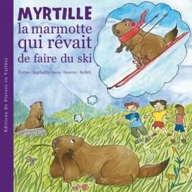 Myrtille la marmotte au ski