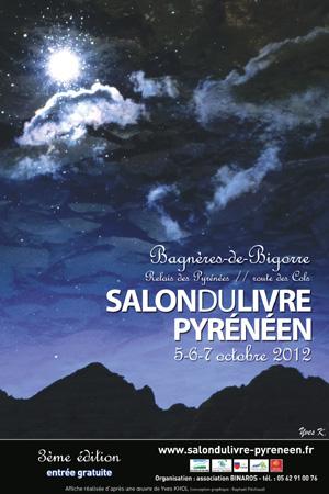Affiche 2012 du Salon du Livre Pyrénéen